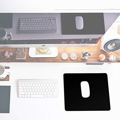 Sidorenko Gaming Mauspad – 280 x 200 mm – Vernähte Kanten – Rutschfest – Mousepad mit einer speziellen Oberfläche verbessert Geschwindigkeit und Präzision | schwarz - 2