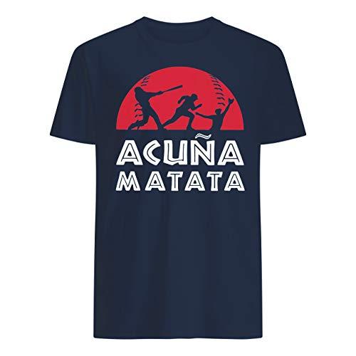 Baseball Acuna-Matata Sunset T-Shirt Navy Blue