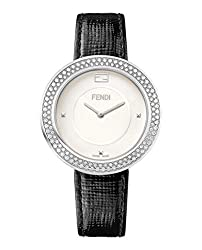 Fendi White Dial My Way Watch F350034011-C0 with Black Strap