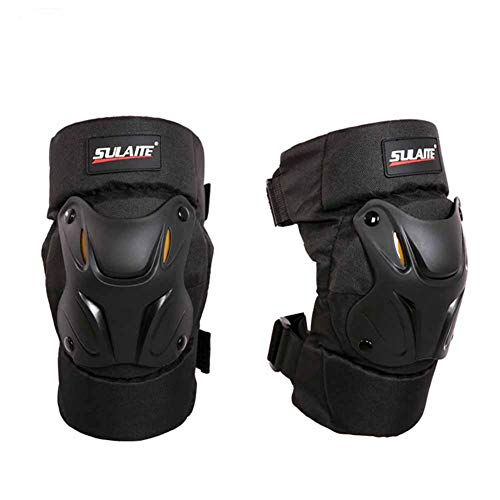 SAHWIN® Knieschoner Schutz Gelkissen und Wasserfesten Eva-Schaumpolstern Knieprotektoren Verstellbarem Klettverschluss Schutzausrüstung für Motorrad Fahrrad Skateboard