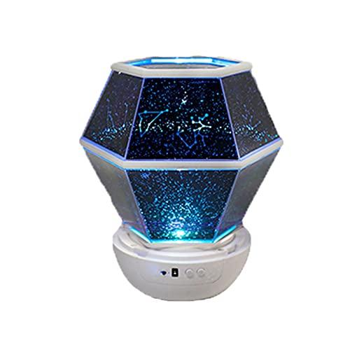 Luce notturna, proiettore LED per galassia stellata, lampada per proiezione astronomica del cielo con rotazione della lampada notturna, per regalo di compleanno per planetario domestico(Color:Remote C