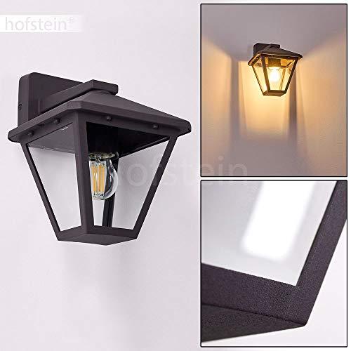 Malmberget buitenwandlamp, moderne wandlamp van metaal/glas in antraciet, klassieke wandlamp met E27 stopcontacten, max. 60 Watt, buitenlamp beneden voor de ingang