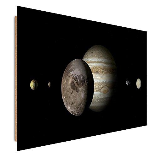 Feeby. Tableau - 1 Partie - 70x100 cm, Décoration Murale Image Imprimée Deco Panel, Cosmos, PLANÈTES, Noir