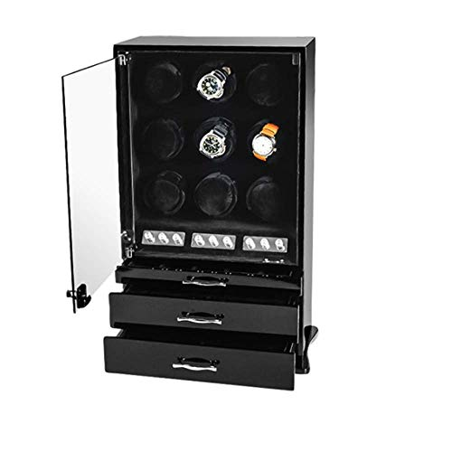 JHSHENGSHI Watch Winder, Automatic Watch Winder with 9 Watch Winder...