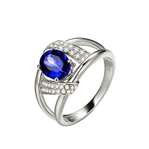 AmDxD oro blanco 18 quilates (750) marquise-shape Blue White Tanzanite