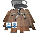 Polycarbonat Bodenschutzmatte | transparent, oval | für Hartböden (Parkett, Laminat, Fliesen,...