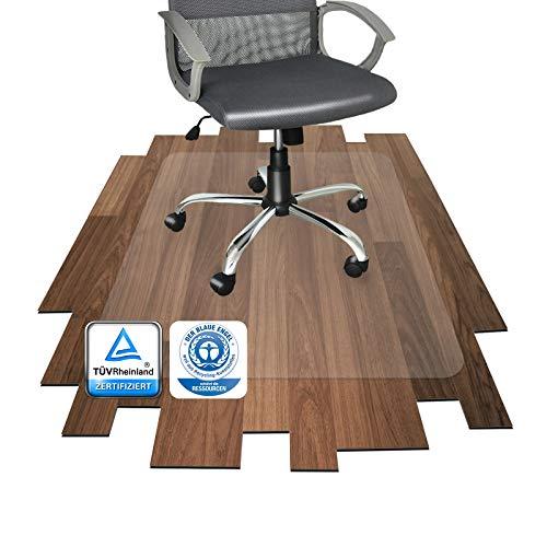 Polycarbonat Bodenschutzmatte | transparent, oval | für Hartböden (Parkett, Laminat, Fliesen, Kork, Vinyl, etc.) (97x126 cm)