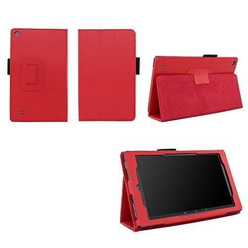 Case for Kindle Fire 7 (5th, 7th and 9th Generation) Tablet - Folio Case with Stand for Kindle Fire 7 Inch Tablet - Red