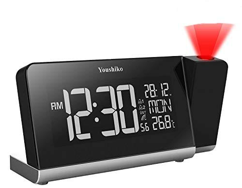 Youshiko Radio Control Projection Clock ( Premium Quality / LCD HD Display...