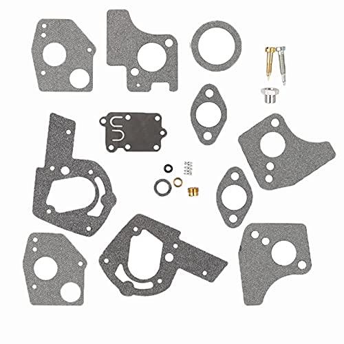 KaKaDz Kit de Almohadilla de carburador, Juego de reparación de carburador Revestimiento 495606 494624 3HP-5HP Aguja de Junta de diafragma de Motosierra Fácil de Instalar y Duradero LUZ Y DUARBLE