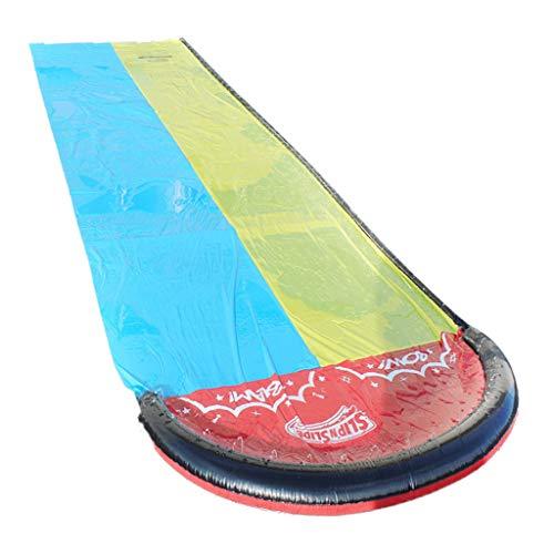Great Price! QTJUST Giant Splash Sprint Water Slide Dual Racing Lanes and Splash Pool Sprinkler