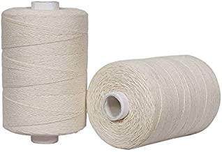 Crafteza Warp Thread for Weaving Loom - 1 Spool of 850 Yards 8/4 Warp Yarn 100% Cotton - Natural/Off White Color - Perfect Warping Thread for Weaving Tapestry Carpet Rug Blankets and Other Patterns