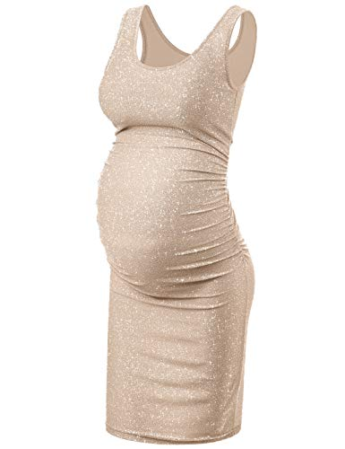 KIM S Maternity Dress, Maternity Dress for Photography Champagne M