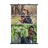 Rick & Mor-t-y & Anime Negan Smiles Anime Living Room Bedroom Home Decoration Gift Fabric Wall Scroll Poster (16x24) Inches