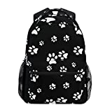 MAHU Backpack Animal Puppy Dog Paw Print Adults School Bag Casual College Bag...