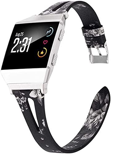 Gransho Piel Correa de Reloj Compatible con Fitbit Ionic, Correa/Banda/Pulsera/Recambio/Reemplazo/Strap de Reloj (Pattern 4)