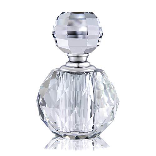 Botella de perfume transparente estilo vintage cristal vacío decorativo mini recargable