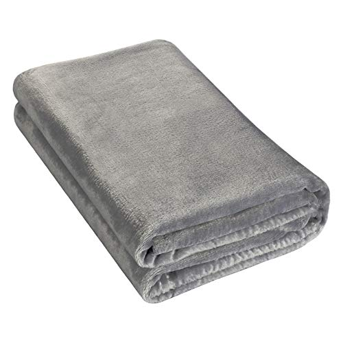 YOOFOSS Baby Blanket Toddler Swaddle Flannel Blanket 75x100cm Extra Soft Fluffy Grey Pram Blanket for Newborns Toddler