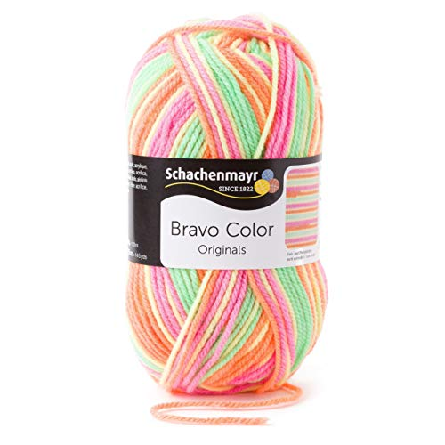 Schachenmayr Bravo Color 9801421-02100 casablanca Handstrickgarn, Häkelgarn