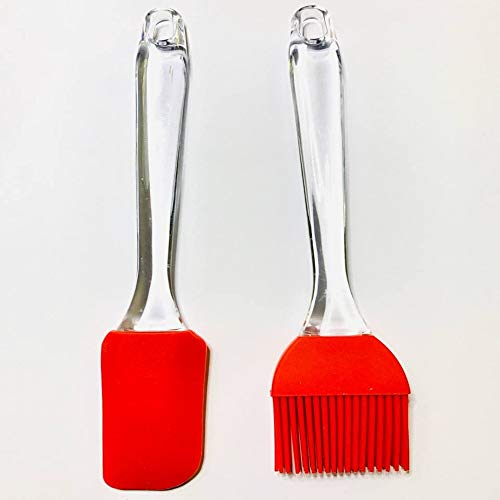 Pack 2 unidades de espatula silicona antiadherente utensilios cocina de silicona para...
