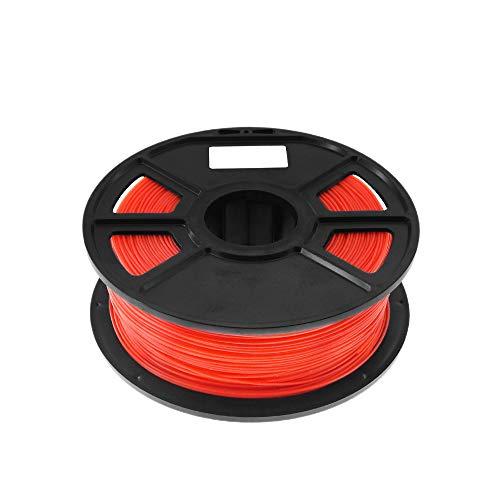 Tuneway Red 1Kg-Pla Filament 1.75Mm Plastic Rubber Consumables Material 3D Carbon Fiber 3D Filament 1.75 Impressora 3D Filament for Print