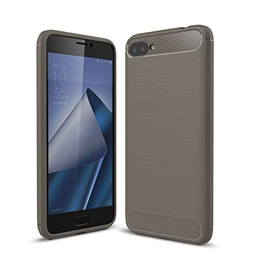 Bueno for Asus Zenfone 4 Max Plus ZC554KL Funda de protección de armadura resistente TPU a prueba de golpes de fibra de carbono con textura cepillada (negro) Shiningxie (Color : Grey)