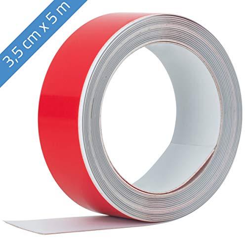 Beilheimer Ferroband 5m x 3,5cm Mangethaftband Magnethaftleiste selbstklebend Eisenband