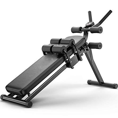 PLEASUR Sit Up/ab Bank opvouwbaar, verstelbaar, met beenfixatie, buik, rug, workout trainer abstrainer buik, kroon oefening vergelijkbaar met gewicht bank/halterbank.