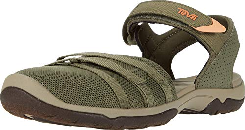 Teva Women's Tirra CT Sandal, Burnt Olive, 7.5