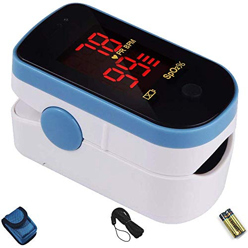CHOICEMMED Sky Blue Finger Pulse Oximeter - Blood Oxygen Saturation...