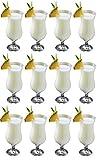 epure Venezia Collection 12 Piece Hurricane Glasses