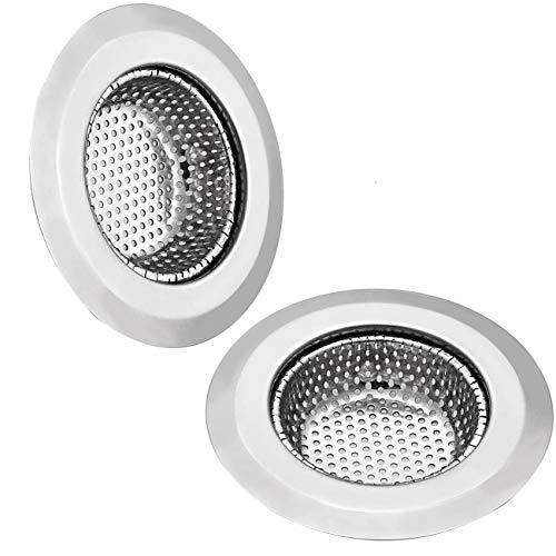 Spüle Abflußsieb Edelstahl Filter - GreeSuit 2 Stück Waschbecken Sieb Ausgussfilter Plughole für Küche Badezimmer 11,5 cm / 4,5 Zoll Durchmesser