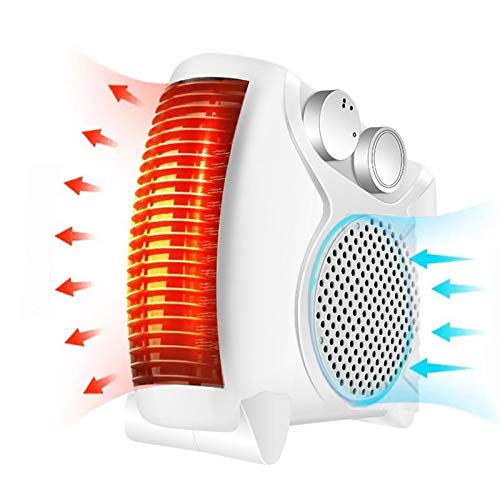 YQYJX Electric Fan Heater with 2 Heat Settings and Cool Air Setting,Space Heater,Flat/Upright