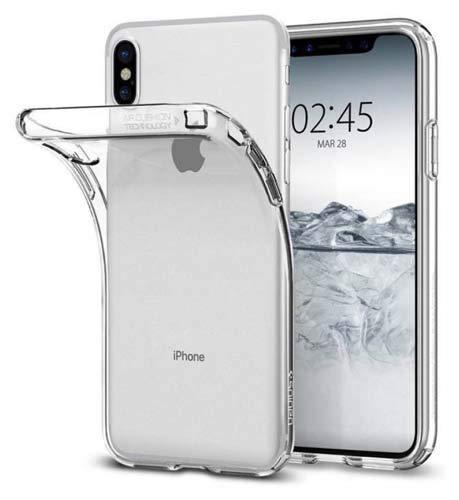 CaseRepublic Transparent Back Cover for Apple iPhone X Soft