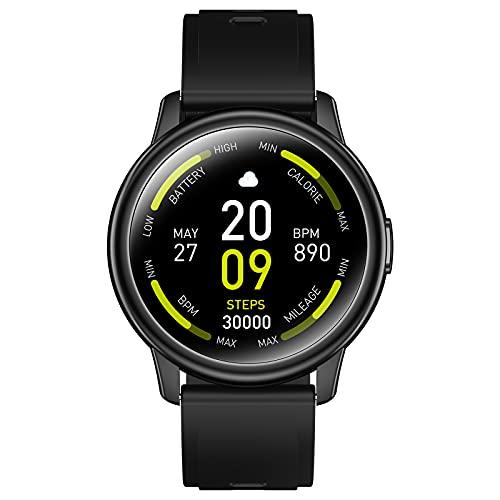 Smartwatch, 1.3' Schermo Rotondo Orologio Fitness Smartwatch Donna Uomo, IP67 Smart Watch Orologio Sportivo, Contapassi Calorie Cronometro Cardiofrequenzimetro Activity Tracker per Android iOS