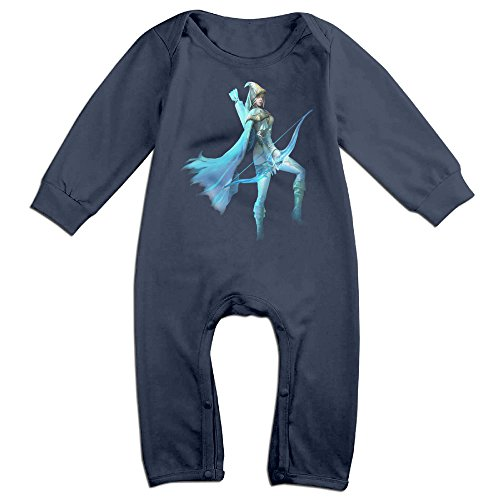Roseer League of Legends Dat Ashe Toddler Warm Clothes 18 Months Navy