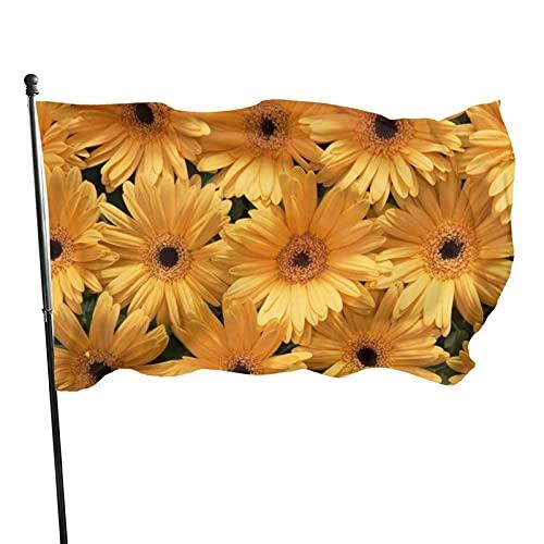 Bandera de jardín Bandera Girasol Amarillo Color Vivo y Resistente a la decoloración UV Bandera de Patio de Bienvenida Bandera de decoración de jardín 90 x 150 cm