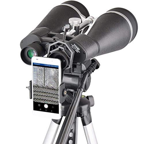H.Slay Binoculares de astronomía 20x80, binoculares Gigantes con Adaptador de trípode Reforzado, Estuche de Transporte, Escudo Protector y Adaptador de teléfono para digiscoping, para observación d