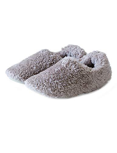 [ラッコウ] あったか ルームシューズ スリッパ 冬用 かかと付き 男女兼用 もこもこ 軽量 洗える ライト ブラウン 24.5cm