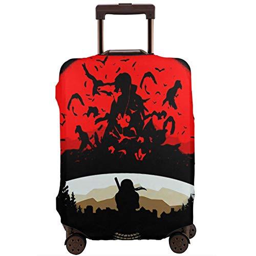 Fundas para Maletas Akatsuki Itachi Uchiha Not Easy To Shrink Protector de Maleta de Viaje Funda de Maleta con Cremallera Cubierta de impresión de Moda Lavable por valija Protector de Maleta de Viaje