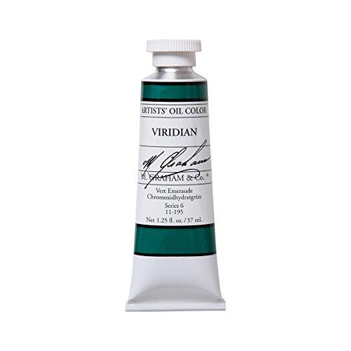 M. Graham & Co. Artist Oil Paint Viridian 1.25oz/37ml Tube