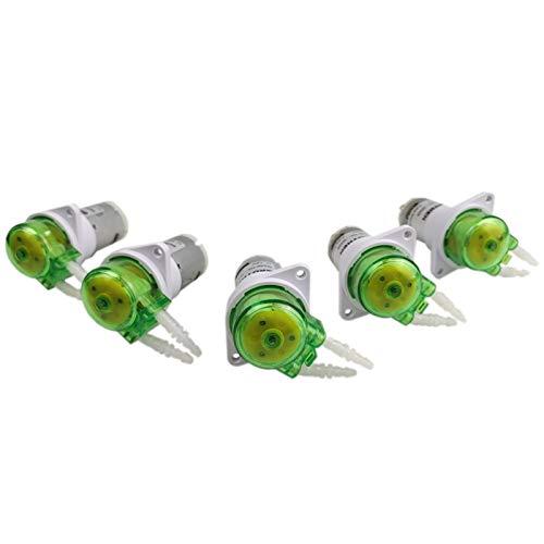 liuchenmaoyi Aquariumzubehör Mini 12V / 24V peristaltische Pumpe kleine Wasserpumpe mit hohen Präzision und DC-Bürstenmotor Aquarium (Color : 02 BPT Tube, Voltage : 24V)