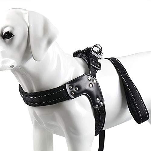 ARTGHJL Arnés para perros, pequeño, mediano y grande, a prueba de pinchazos, correa de pecho para mascotas, cuerda de tracción de malla y traje en forma de V (tamaño: 3,0 cm, negro)