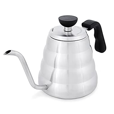 Pour Over Kettle Coffee Maker: Stainless Steel Gooseneck Drip Kettles for Ground Beans Hand Drip Coffees & Loose Leaf Tea - Barista Quality 1.2 liter