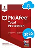 McAfee Total Protection 2020 | 3 Dispositivi | 1 Anno | PC/Mac/Smartphone/Tablet...