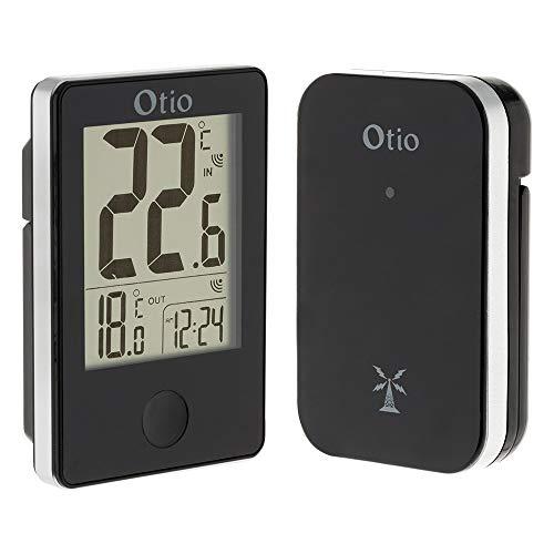 Thermomètre int/ext sans fil Noir - Otio