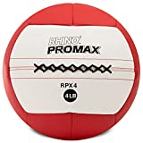 Champion Sports RPX4 Rhino Promax Slam Balls, 4 lb, Soft Shell with Non-Slip Grip, Medicine Wall Exercise Ball for Weightlifting, Plyometrics, Cross Training, & Home Gym Fitness
