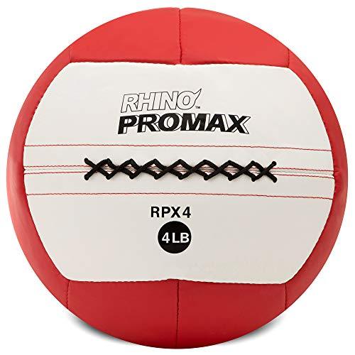 Champion Sports RPX4 Rhino Promax Slam Balls, 4 lb, Soft Shell with Non-Slip Grip, Medicine Wall Exercise Ball for Weightlifting, Plyometrics, Cross Training, & Home Gym Fitness