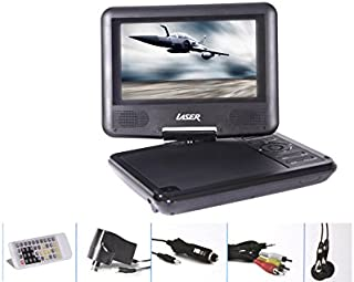 """Laser Portable CAR Kids DVD/CD Player 7""""/180 Swivel/Remote/CAR Charger/TV Connect"""
