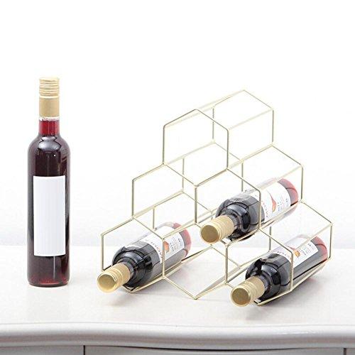 popchilli Botellero Triangular Triángulo De Hierro Dorado Metal Vino Estante Triángulo Vino Botellero Bar Nueva Casa Gabinete De Vino Decoración Hogar Piel forSale